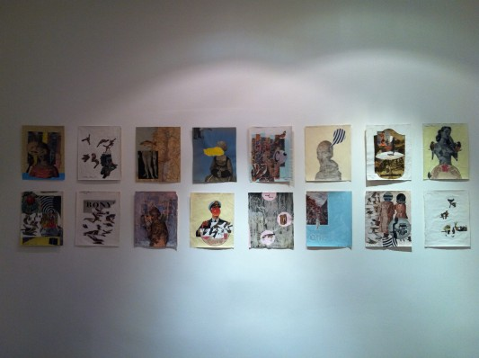 New works on paper by Matthew Rose